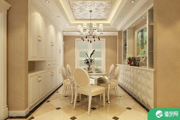 輕奢簡歐風格三居室裝修案例