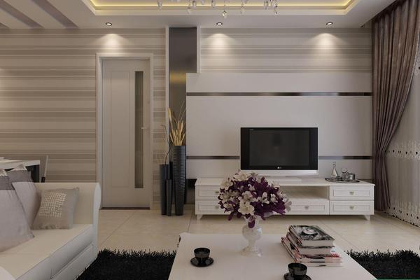西宁现代风格三居室装修图