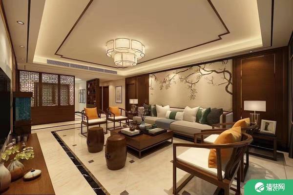 濟南中式風格四居室裝修效果圖