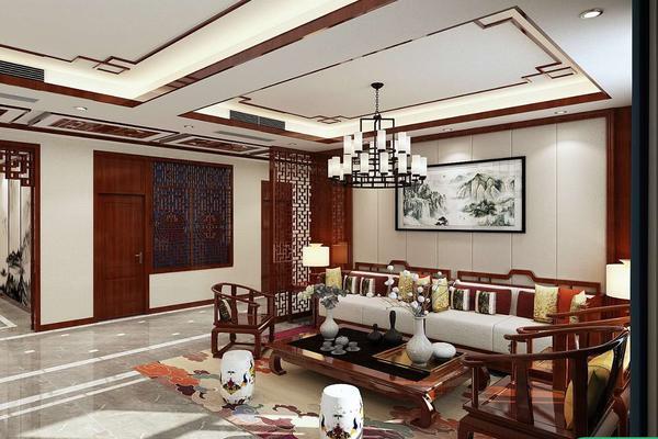 苑口村自建房装修设计 中式风格自建房装修效果图
