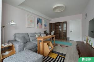 福州现代简约北欧风格两居室装修效果图