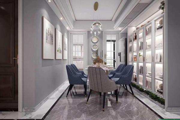 美式輕奢三居室裝修案例