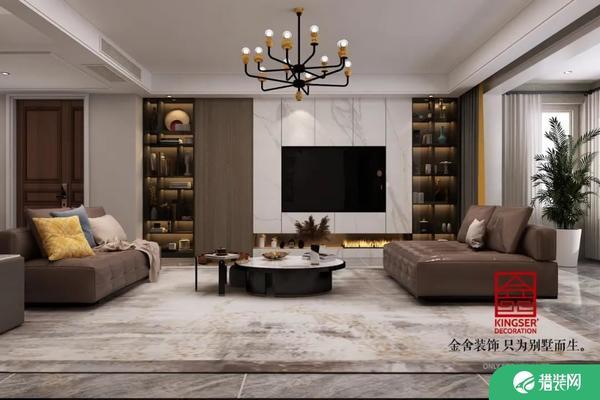 石家庄金舍装饰东南智汇城现代风实例 191平方塑造舒适自由