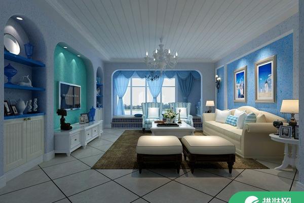 惠州地中海風格兩居室裝修效果圖