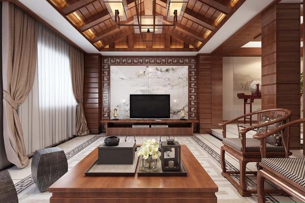 天津盛世酈園 中式別墅裝修設計效果圖