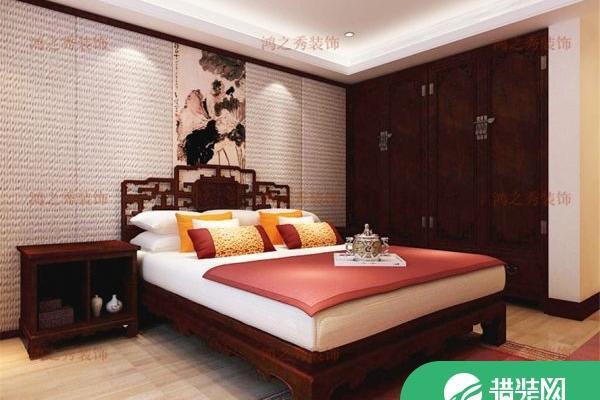 南陽三川陳姐三居室中式風格裝修效果圖