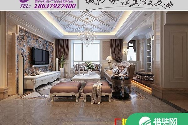 洛陽美景閣四居室簡歐風格裝修設計