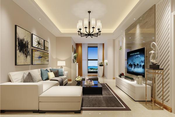 长春三房两厅现代简约风格装修案例
