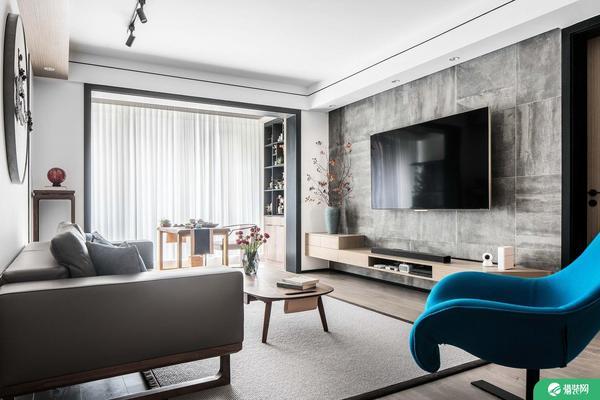 常州現代風格三居室裝修效果圖