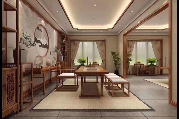 廊坊大學里別墅新中式風格裝修,富有東方韻味的浪漫家居
