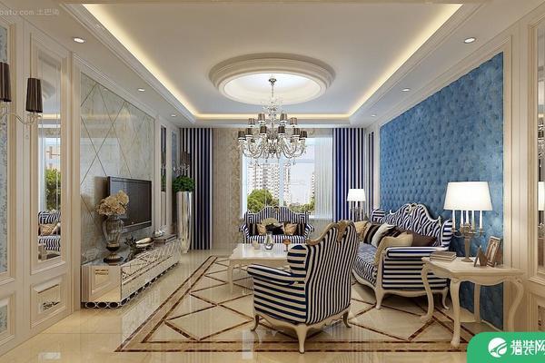 六安地中海風格三居室裝修效果圖