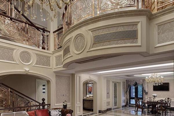 長沙湖畔小區 九方生活歐式別墅裝修設計效果圖