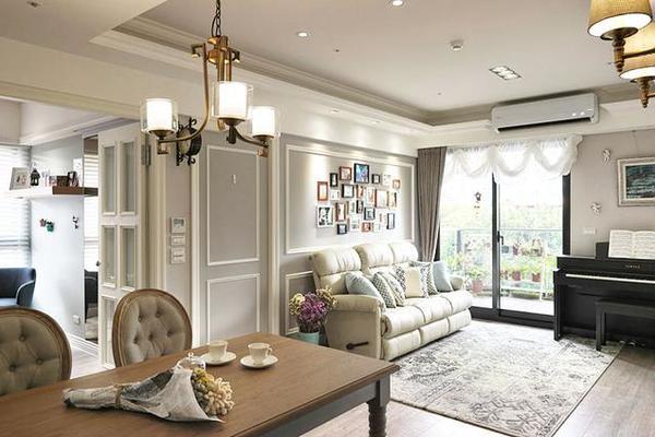 四室两厅140平婚房装修,采用美式风格设计