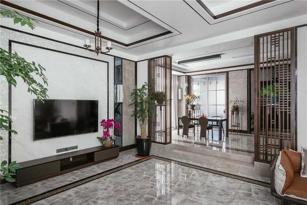 145新中式三室两厅装修设计案例