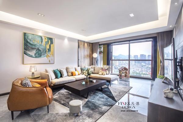 貴陽金色陽光140㎡有溫度的現代住宅裝修設計案例