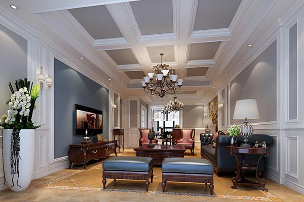国宾一号美式风格四房两厅装修设计
