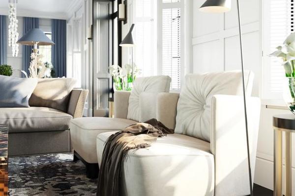 109平米三居室美式装修图