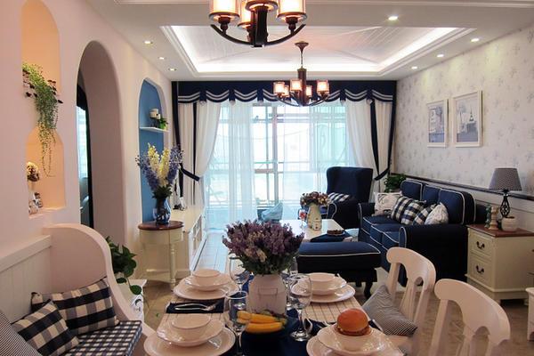 碧桂園都薈地中海樣板房裝修案例