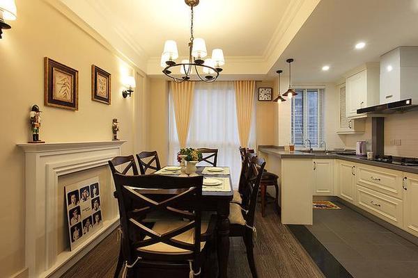 120平米三室一廳裝修,現代美式裝修圖