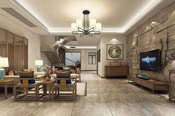 新中式别墅装修效果图案例