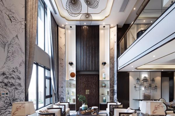 432平米新中式别墅样板房装修设计图