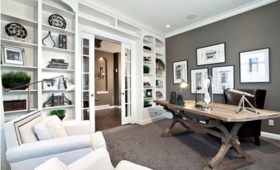 130平美式風格房子強化地板裝修效果圖