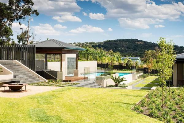 389平米簡約風格獨棟別墅庭院裝修效果圖