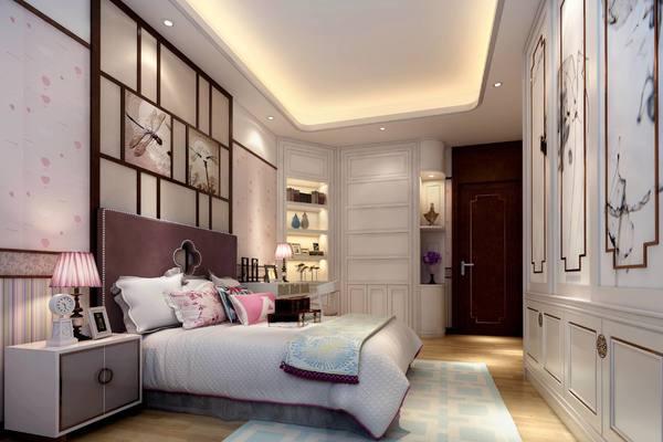4平米不规则房间中式简约风格装修效果图