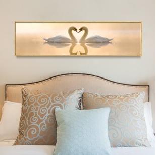 180平米房子田園風格手繪臥室背景墻裝修效果圖