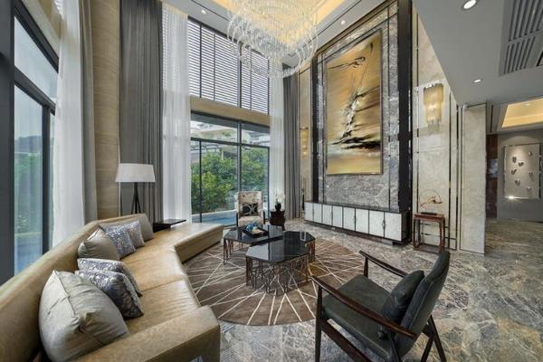170平欧式别墅落地窗装修效果图