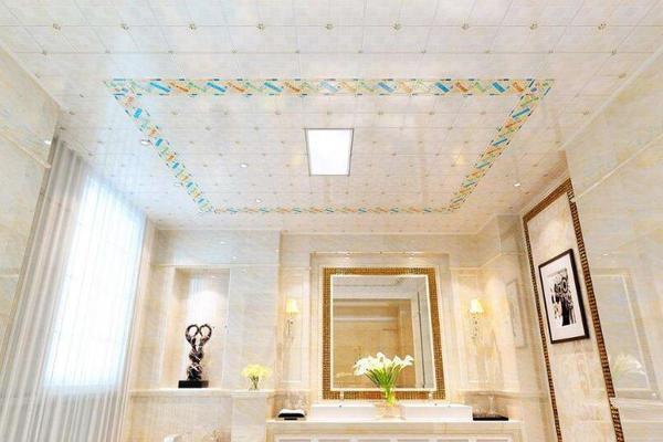 70平简欧风格走廊铝扣板吊顶图片欣赏