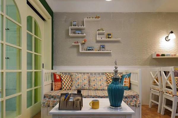 地中海風格時尚混搭兩居室室內裝修效果圖