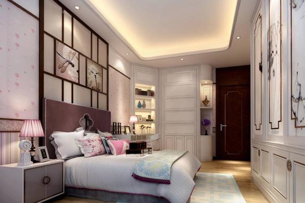 172平米大户型古典风格卧室玄关柜装修效果图