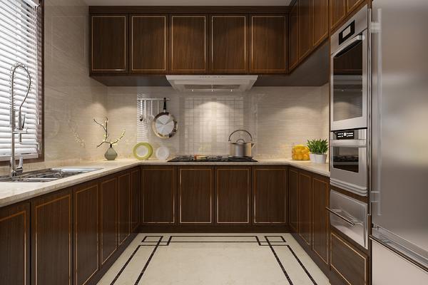 35平新中式别墅厨房装修效果图