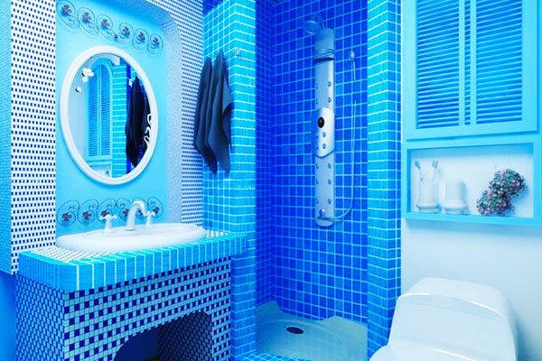 地中海風格藍色經典衛生間裝修效果圖賞析