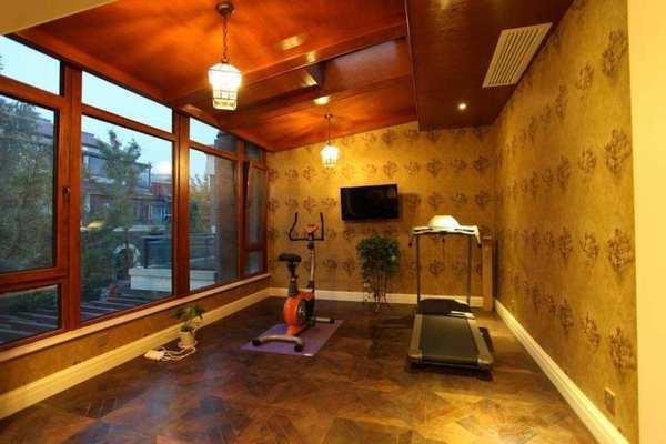 88平米單位健身房簡歐風格裝修效果圖