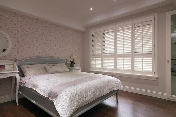 90平米房子二居室現代田園臥室筒燈裝修效果圖