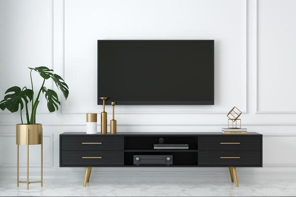 極簡風格電視櫥柜設計裝修效果圖