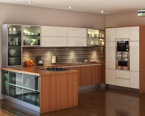 8平米廚房雙飾面櫥柜圖片