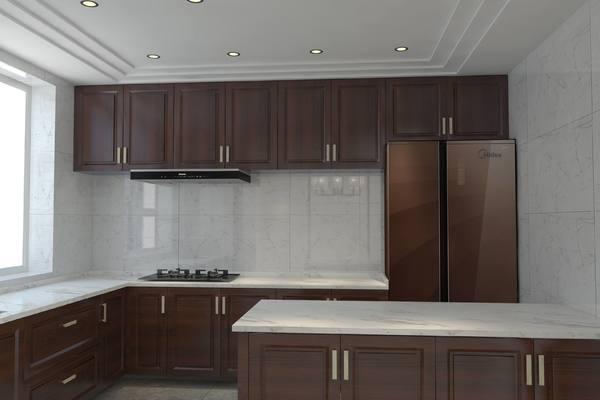 10平米中式厨房橱柜装修效果图