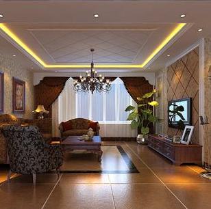 美观实用的客厅吊顶效果图
