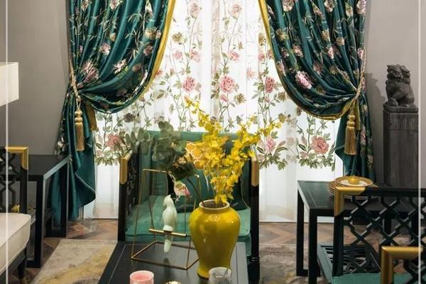 12平米美式陽臺窗簾圖片