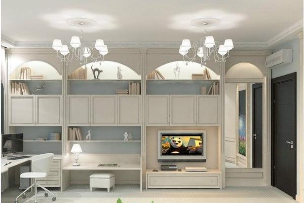 地中海小戶型客廳吊頂裝修效果圖