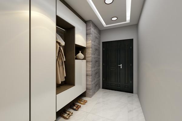 118平三居室現代風格房屋玄關裝修效果圖