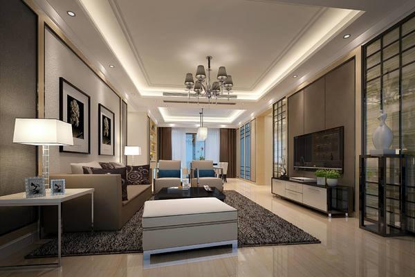 135平大户型简单房屋装修效果图