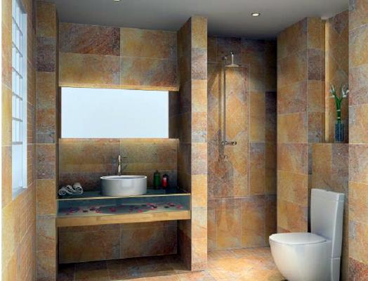 大戶型現代地中海風格衛生間瓷磚效果圖