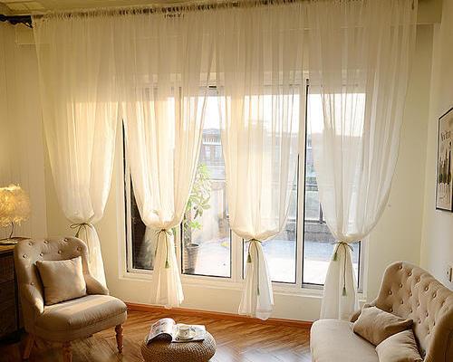 9平米美式陽臺窗簾圖片