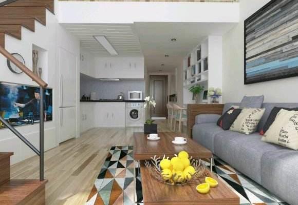 30平米loft復式樓公寓簡歐裝修圖