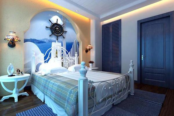 兩室一廳地中海風格臥室裝修效果圖