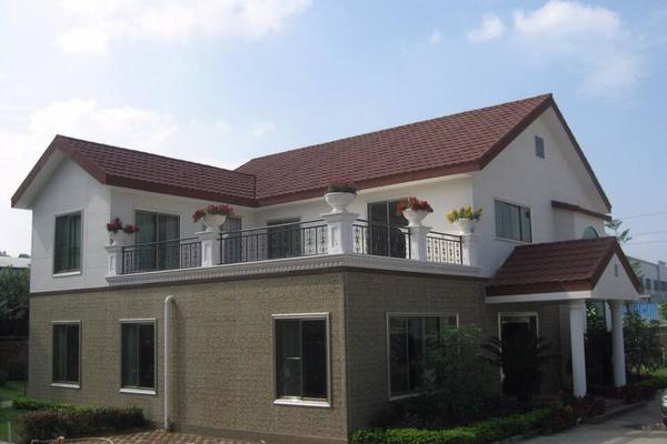348平米欧式风格带平台别墅屋面瓦装修效果图